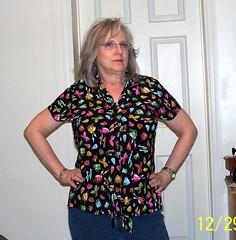 Tie hanging down (Danvillegirl) Tags: 2008 blouses mccalls