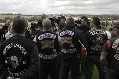 Gypsy Joker Protest Run (Roy Lister) Tags: photo photographer image protest australia photograph adelaide biker southaustralia outlaw rebels hellsangels finks gawler gypsyjokers bikie decendants onepercent onepercenters roylister outlawmotorcycleclub