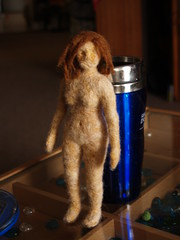 Needle felted figure 5 (Gravitational Wool) Tags: sculpture wool dreadlocks felted nude felt dreadhead needlefelted