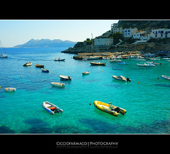 Levanzo Island - The clear water of the harbour