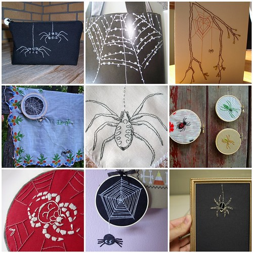 Embroidery Inspiration - Spiders and Webs