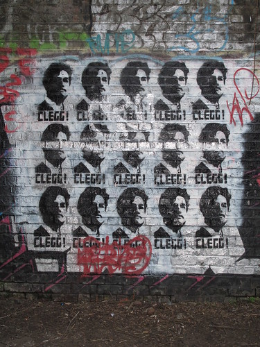 Revolutionary Nick Clegg graffiti
