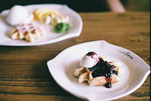 Cream cheese waffle