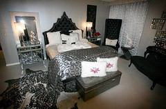 "4208 BLACK PRINCESS BED + 4137 SILVER SNAKESKIN PATTERNED LEATHER BENCH • <a style=""font-size:0.8em;"" href=""http://www.flickr.com/photos/43749930@N04/5805149617/"" target=""_blank"">View on Flickr</a>"