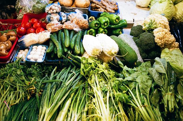 翠綠的青菜