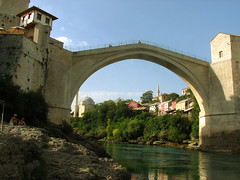 Mostar Bridge / Stari Most / Mostar Kprs (Senol Demir) Tags: city travel bridge river landscape town war mostar bosnia culture battle herzegovina historical ottoman oldtown balkan bosna manzara osmanl sava 5photosaday ehir hersek anawesomeshot flickrrose grouptripod