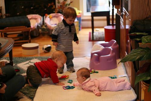 "Walker, Hannah and Eli ""Playing"""