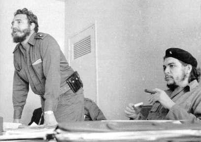 """Fidel Castro y Ernesto """"Che"""" Guevara"""