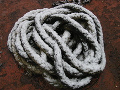Snow on a rope