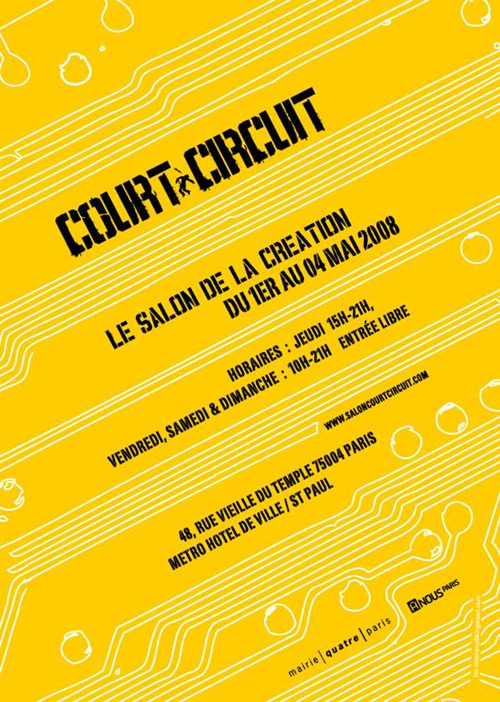 Flyer Salon Court-Circuit Paris, Mai 2008
