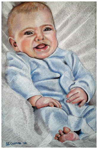 Colored pencil drawing entitled Benjamin