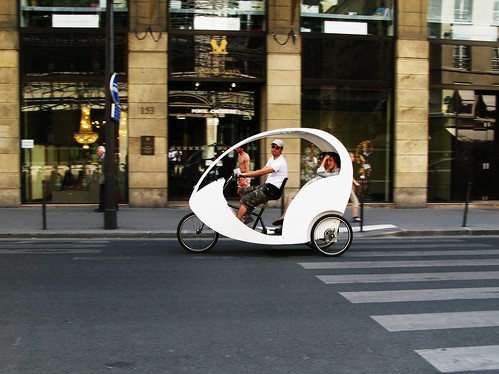 Paris Bike Culture - Bike Taxi
