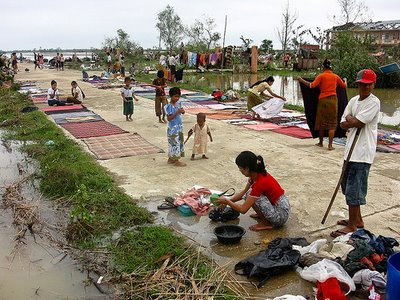 Cyclone victims