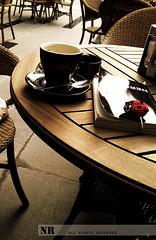 Waiting for u My N :( (~NR~) Tags: cup coffee book ladybird ladybug nr