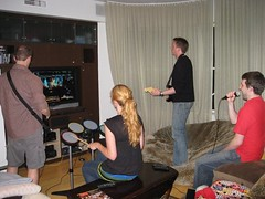 i decided to give in and give rock band a go. hate the sin, not the sinner, right?