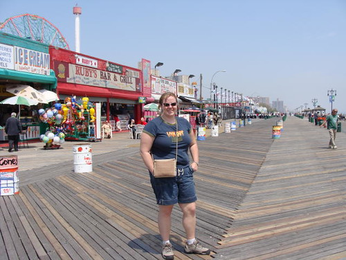 Jamie on the boardwalk.