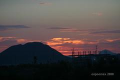 Afterglow (Brujo+) Tags: sky clouds cielo nubes puestadesol ocaso afterglow