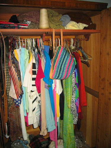 Wife's clothing in closet