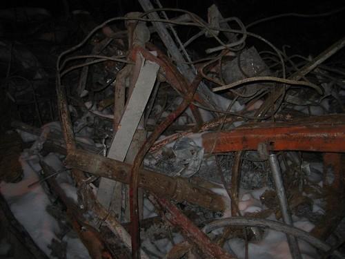 Mangled metal debris