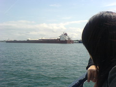 Xue and the Laker Ship (spinspin_56) Tags: saultstemarie locktour