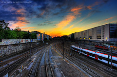 96 L 95: rail tracks (Salva del Saz) Tags: sunset sky canon eos schweiz suisse dusk tracks rail trains basel locomotive svizzera railyard 1022mm hdr highdynamicrange 1022 efs1022mm digitalblending swuitzerland 40d lovemyflickrfriends salvadordelsaz salvadelsaz ylihlm lovemy1022lenses