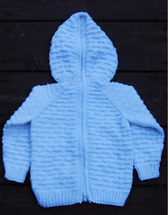 Zip Up Back Hooded Baby Sweater Pattern 105