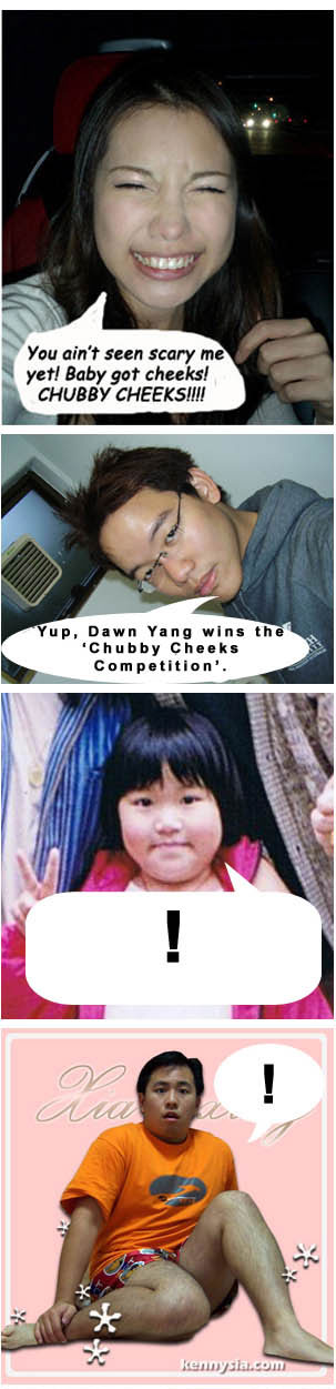 Dawn Yang wins the chubby cheeks contest. Queen Elizabeth is pissed.