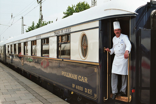 Pullman Car and chef, Orient Express style carriage