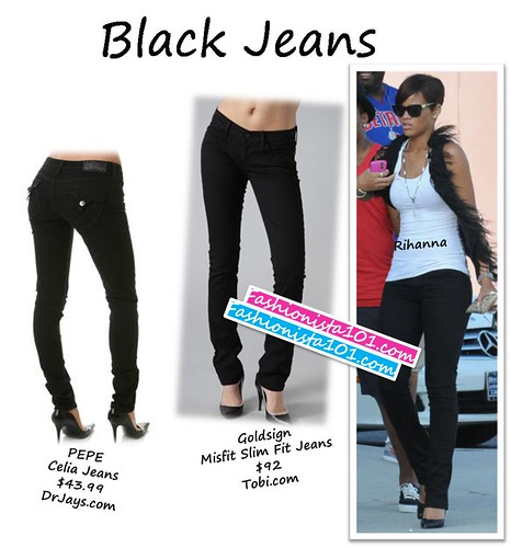 black jeans by you.
