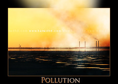 Pollution (Hamad Al-meer) Tags: wwwhamadhdcom hamadhdcom hamadhd hamad hd pollution landscape view kuwait color colors orange yellow black white smoke shine sea water q8 kw art flickrlovers aplusphoto       almeer
