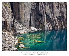 Submerged Boulders, Lake, and Cliffs (G Dan Mitchell) Tags: blue light cliff usa mountain lake snow nature wall landscape climb nationalpark high rocks aqua underwater adams nevada great stock gap boulder hike sierra trail alpine scree northamerica submerged range sequoia precipice seki ansel talus kaweah packpack caliornia westerndivide photonature precipicelake induro gdanmitchell