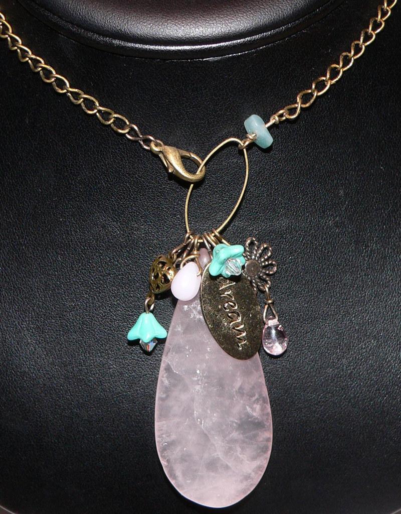 Rose Quartz Necklace -402