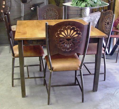 5242RU Sedona Square Dining - rust