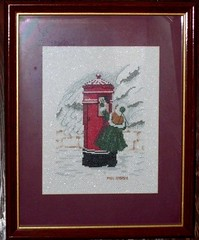 Cross Stitch: Girl with Mailbox
