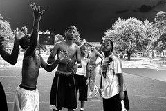 Street Ball (Starmaker Photos) Tags: street city shirtless urban black sports basketball ball athletic outdoor teen africanamerican gameface delawareonline