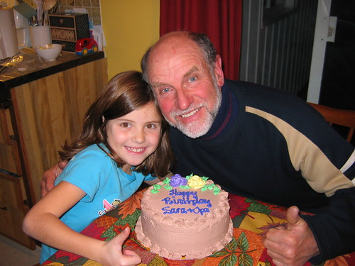 Birthday girl and birthday Opa