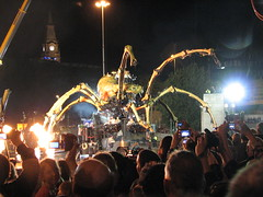 La Machine Finale, Liverpool, Sunday 7th Sep 2008 (Torl Porl) Tags: street art liverpool spider mechanical theatre arachnid crowd machine birkenhead finale mersey tunnell williambrown capitalofculture lamachine laprincesse