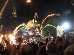 La Machine Finale, Liverpool, Sunday 7th Sep 2008 (Torl Porl) Tags: street art liverpool spider mechanical theatre arachnid crowd machine birkenhead finale mersey tunnell williambrown capitalofculture lamachine laprincesse