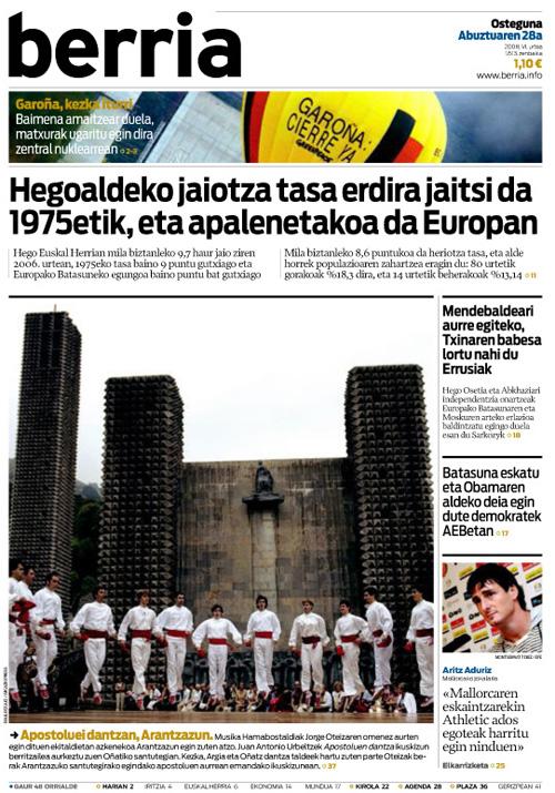 2008-08-28_Berria-Apostoluen-dantza-portada-rek