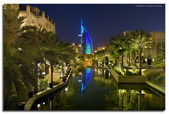 Reflections Of The Burj (DanielKHC) Tags: night digital reflections interestingness high nikon long exposure dubai dynamic united uae emirates explore arab burjalarab range fp frontpage dri increase hdr jumeirah blending madinat d300 dynamicrangeincrease interestingness38 8exp danielcheong bratanesque danielkhc explorefp tokina1116mmf28 explore11sep08 gettyimagesmeandafrica1