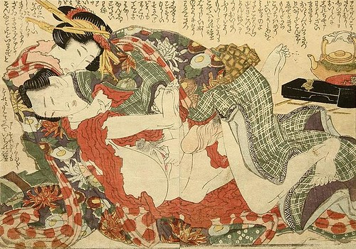 -Hokusai - Overlapping Skirts - Foreplay - c.1820. by you.