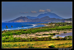 View of Nevis from Saint Kitts (j glenn montano 3) Tags: saint st glenn christopher montano nevis kitts justiniano colourartaward