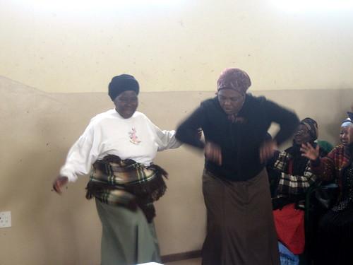 Gogos dancing & storytelling