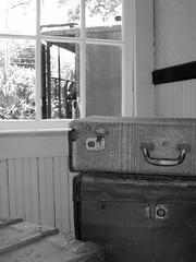 The Train Has Arrived (meeko_) Tags: bw heritage window station museum train village florida trainstation springs depot sulphur suitcase largo pinellas heritagevillage sulphurspringsdepot