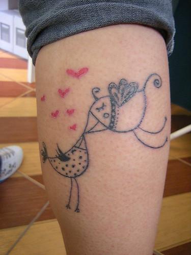 Olha que linda a tattoo que a Paola fez a partir de um desenho (exclusivo,