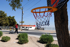 Homelessness in North Las Vegas, NV (bumpkin78) Tags: basketball hoop lasvegas nevada homeless