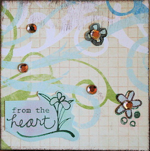 Card - from the heart