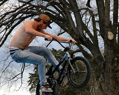 bonds undies with shoe tree (owlana) Tags: living spring community bmx fitzroy bikes australia melbourne skate 2008 edinboroughgardens fitzroybowl memorialjam timhalesmemorial