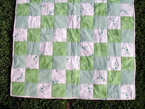 pink green girl quilt