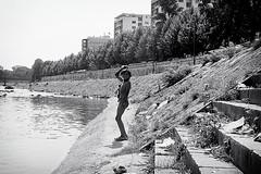 Dirty dancer (Neurotok) Tags: bw river kid nikon child dancer macedonia f90 balkans n90 gipsy marcin fyrom 2470mm zajac skopie singma formeryugoslavianrepublicofmacedonia neurotok